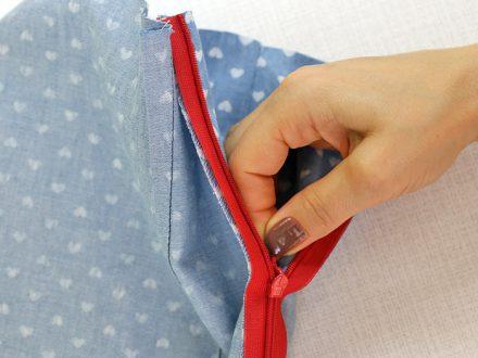 Wszywanie zamka krytego do spódnicy