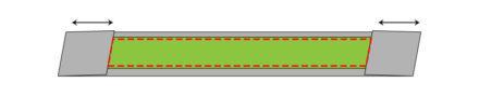 Przeszycie kontrastowego elementu - ozdobna rączka do torebki, tutorial