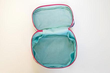Kosmetyczka kuferek - darmowy wykrój i tutorial
