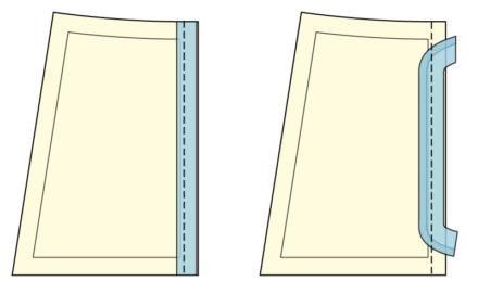 Jak wszyć wypustkę płaską lub ze sznurkiem