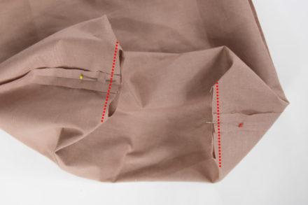 Zszywanie dna podszewki, jak uszyć torebkę tote