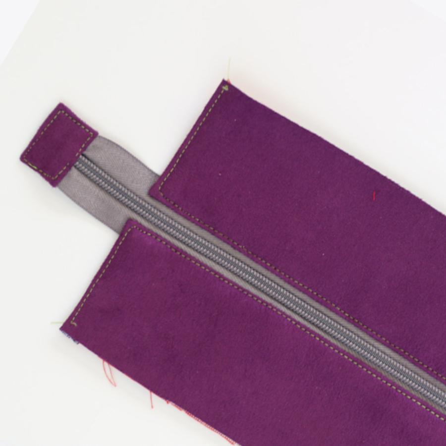 Jak uszyć panel z zamkiem, wszywanie zamka do torebki