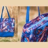 Jak uszyć torebkę z zamkiem i podszewką, tutorial na tote bag