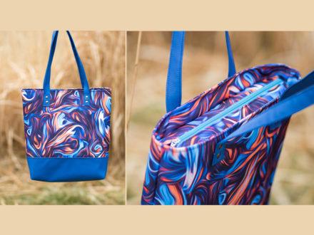 Jak uszyć torbę z zamkiem i podszewką, tutorial na tote bag
