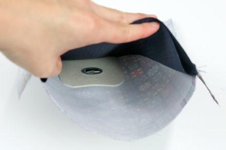Mocowanie dolnej części zapięcia obrotowego w torebce