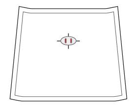 Ustalanie miejsca wykonania nacięć pod bolce zapięcia