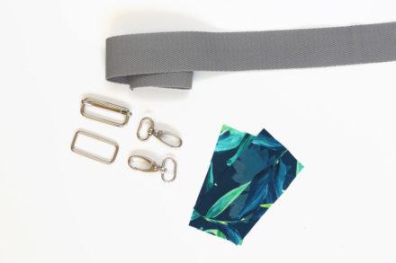 Materiały potrzebne do uszycia paska na ramię do torebki