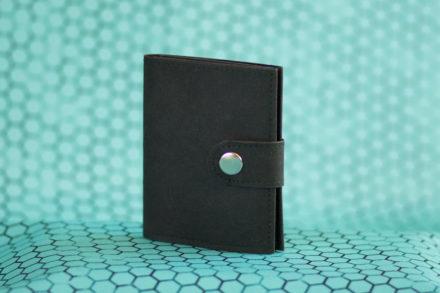Czarny, męski portfel z washpapy - portfel z papieru