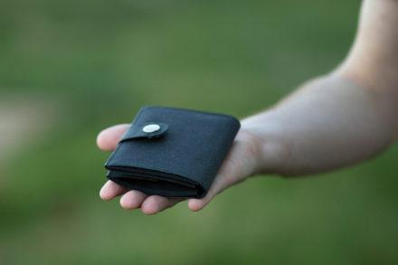 Portfel z washpapy - gładki grzbiet portfela