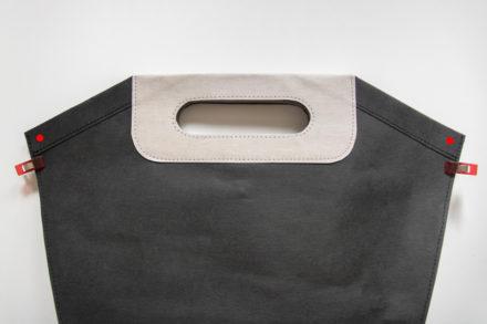 Nabijanie nitów na torbie z washpapy