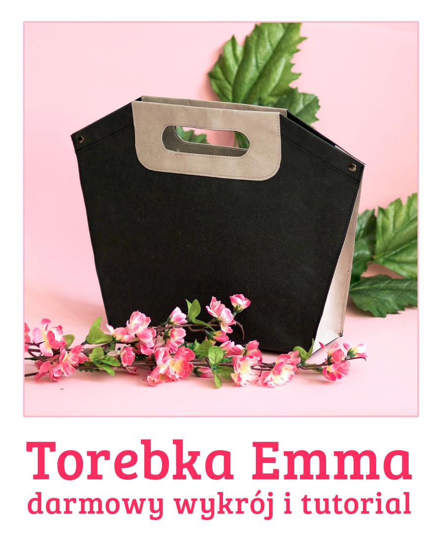 Darmowy wykrój i tutorial na torebke z washpapy - Emma torebka z papieru