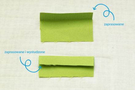 Studzenie szwów - jak idealnie rozprasować dodatki na szwy czy zaprasować krawędź materiału