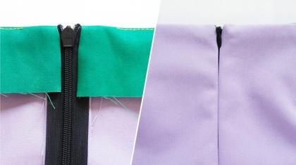 Jak wykończyć pas w spódnicy - przyszywanie obłożenia