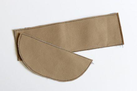 Usztywnienie torebki włókniną wigofil