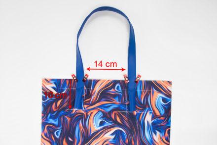 Doszywanie rączek do torebki, jak uszyć torebkę z podszewką tutorial