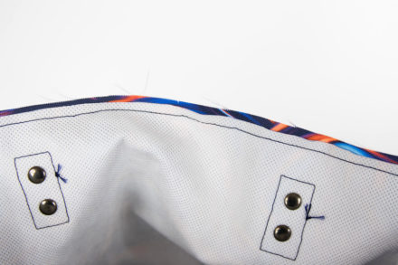 Wszywanie podszewki do torebki tutorial