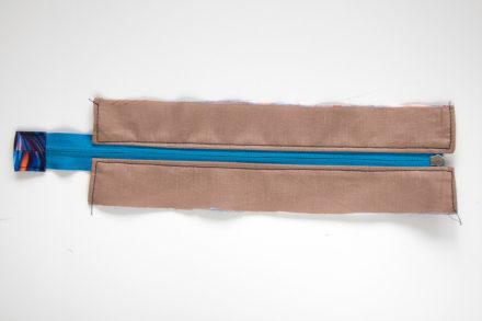 Szycie listwy z zamkiem do torebki, tutorial