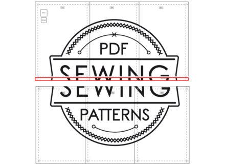 Jak sklejać drukowane wykroje krawieckie