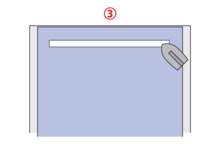 Zaprasowanie wlotu kieszeni - jak uszyć kieszeń z zamkiem