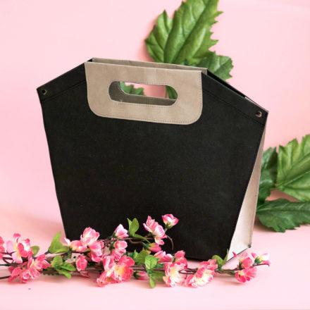 Torebka z washpapy do noszenia w ręce - tutorial, darmowy wykrój