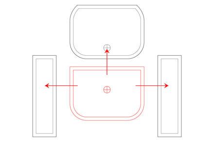 Element głowny oraz kierunek łączenia elementów