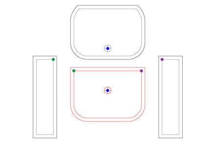 Stałe punkty na elementach, pomocne przy pasowaniu wzoru