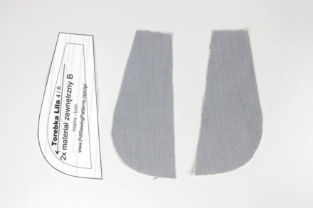 Wycinanie elementów z tkaniny kontrastowej