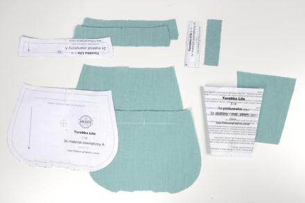 Wycinanie elementów z tkaniny wierzchniej