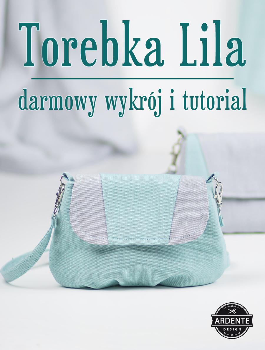 Torebka Lila - darmowy wykrój i tutorial na torebkę z klapką i zakładkami